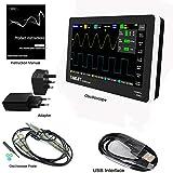 Osciloscopio digital con pantalla táctil de 2 canales de 7 pulgadas con 100 MHz de ancho de banda, multifuncional, ultrafino y portátil USB