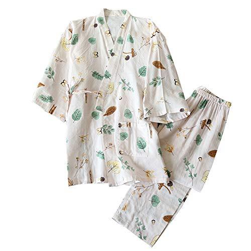 Kimono de Pijama de Mujer japonés camisón Talla L-Rábano A01