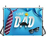 WOLADA 7x5FT Happy Father's Day Photography Backdrop Father's Day Family Party Backdrop Kids Photo Backdrop Photography Studio Props 12089