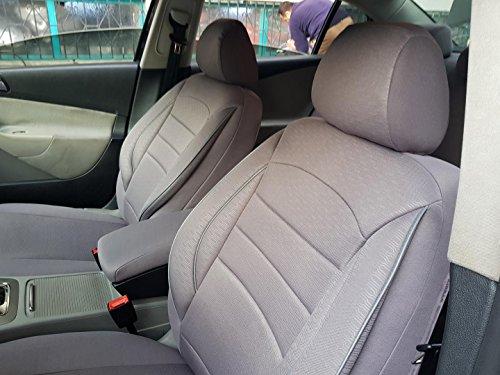 Sitzbezüge K-Maniac für Mercedes E-Klasse W124 | Universal grau | Autositzbezüge Set Vordersitze | Autozubehör Innenraum | V833457 | Kfz Tuning | Sitzbezug | Sitzschoner