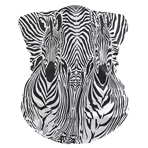 Xiumeimei Animal Zebra Print Bandana Scarf Polaina del Cuello Venda Polvo de pasamontañas Cubiertas bucales...