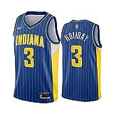 LYY Camisetas De Baloncesto para Hombres, NBA Indiana Pacers # 3 Aaron Holiday - Camiseta De Ropa Sin Mangas De Deporte Clásico, Uniformes De Confort Tops Tops Sportswear,Azul,S(165~170CM)