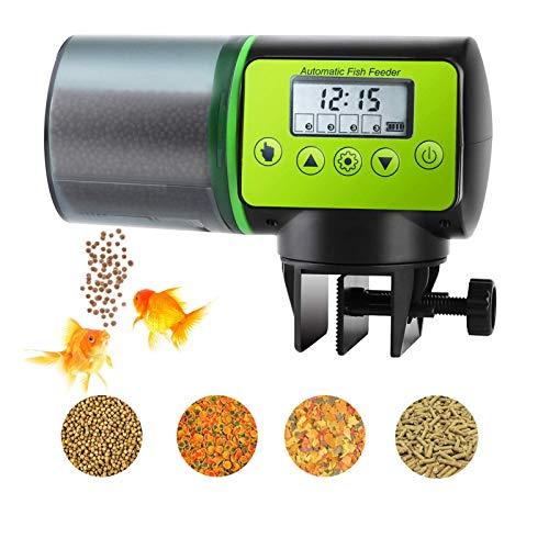 Alimentador Automático de Peces, Dispensador de Alimentos para Peces Alimentador de Tanque de Acuario Eléctrico a Prueba de Humedad