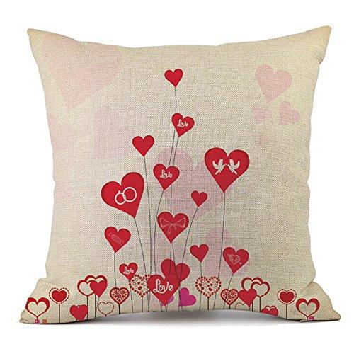 Kreative Love Kissenbezug Valentinstag Dekokissen Fall Valentine's Day Home Deko 45Cm*45Cm Pillowcase KissenhüLle Baumwolle Und Leinen KissenüBerzug KissenbezüGe Taille Kissen (45 cm x 45 cm, J)