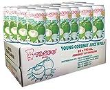 【24本入りケース販売】 TASCO YOUNG COCONUT JUICE WITH PULP 果肉入りココナッツジュース 310ml x 24缶