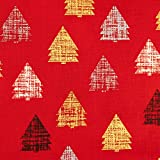 Baumwollstoff Weihnachten kleine grafische Tannenbäume -
