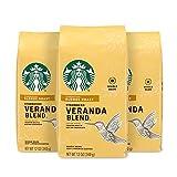 Starbucks Blonde Roast Whole Bean Coffee - Veranda Blend, 100% Arabica, Malt & Chocolate, Light, 12 Oz, Pack of 3
