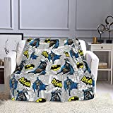 Superhero Blanket Ultra Soft Plush Bed Blankets Cozy Lightweight Couch Throw for Adults and Kids 50'x40'