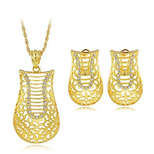 pyongjie Halskette Legierung Geometrische Schuhe Exquisite Schmuck-Sets Für Frauen Geschenk Halskette Ohrringe Anhänger Für Party Tägliche Halskette Länge 45 cm thumbnail