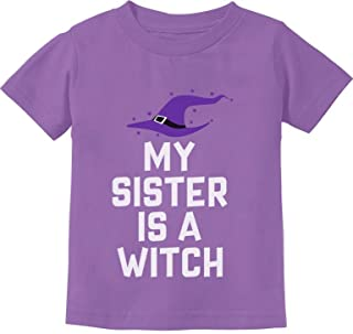 My Sister is a Witch Funny Siblings Halloween Toddler Kids T-Shirt