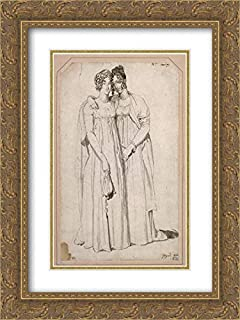 Henriette Harvey and Her Half Sister Elizabeth Norton 18x24 Gold Ornate Frame and Double Matted Museum Art Print by Jean Auguste Dominique Ingres