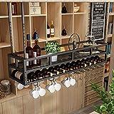 XWZJY Estantes Colgantes para Vasos, Accesorios para Barras, estantes para Vino, al revés, Soporte de Vidrio Tipo Techo para Restaurante, cafetería, Cocina