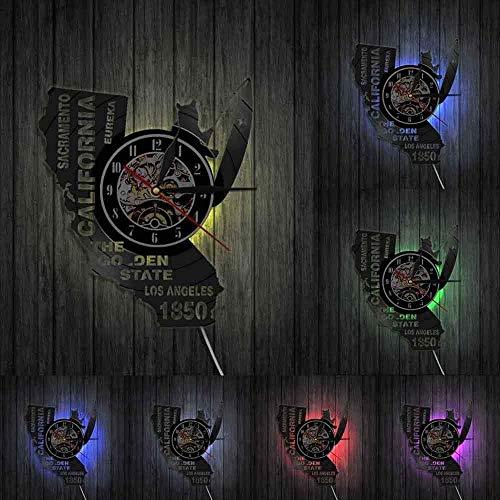 Reloj de pared con disco de vinilo, reloj de pared con registro de vinilo de arquitectura urbana, decoración colgante de pared, lámpara de pared LED, reloj de pared con animales, diseño moderno