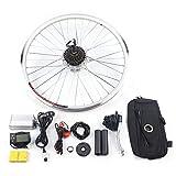 OUKANING Kit de conversión E Bike 26'Kit de conversión de Motor de Cubo de Rueda Trasera para Bicicleta eléctrica con Pantalla LCD 36V 250W