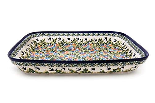 Bunzlauer Keramik Auflaufform für 2 Personen 25,5x19,5x4,5cm (LxBxH) im premium Dekor DU182
