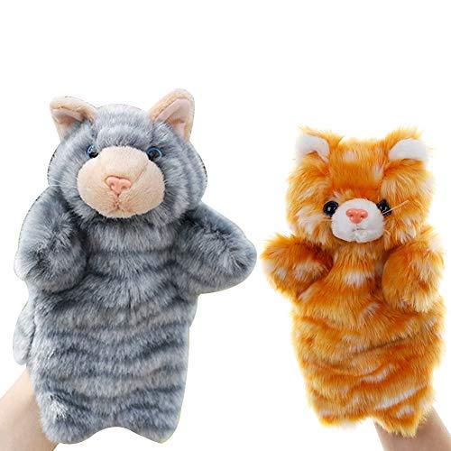 Yeshai3369 Animal Cats Plush Puppet Kids Toy Gato