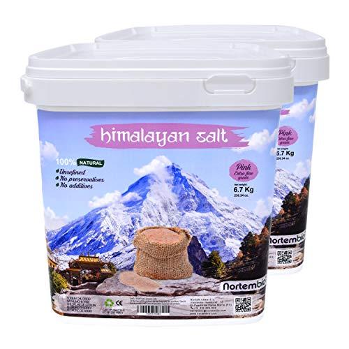 Nortembio Sal Rosa del Himalaya 2x6,7 Kg. Extrafina (0,5-1 mm). 100% Naturales....