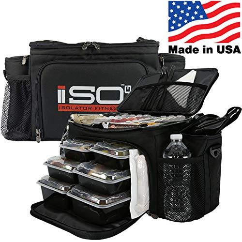 Isolator Fitness 2. Generation Isobag 6 Mahlzeiten Management System/Schwarz/Schwarz/Isolierte Mahlzeiten-Kühltasche