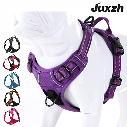 juxzh Soft Front Dog Harness .Best Reflective...