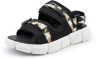 Xujw-shoes, Mens Outdoor Sandals Summer Water Beach Slipper Casual Water Shoes for Men Antislip Buckle Up Hook&Loop Strap Elastic Lightweight Wear Resistant