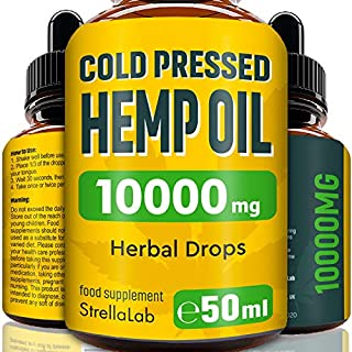 Hemp Oil Drops - 50ml - 10000mg Highest Strength Hemp - Made