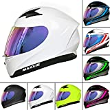Leopard LEO-813 Full Face Motorbike Motorcycle Helmet Road Legal + Extra Iridium Visor