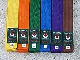 KAMIKAZE Cinturón unicolor para Karate