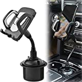 2021 New Benefree Cup Holder Phone Mount Universal Adjustable Gooseneck Cup Holder Cradle Car Mount for Cell Phone iPhone 11/11 pro/Xs/Max/X/8/7 Plus/Galaxy/Huawei(Gray)