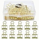 Zoohot creativo hueco pinzas dorado Clips de la cola larga, paquete de 15 unidades