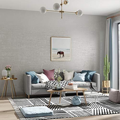 YAOHM Moderne texturé Papier Peint Mur Couleur Solide Papier Chambre à Coucher Salon Home Decor gaufrée Mur,2,10mx53cm