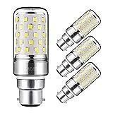 Yiizon 12 W LED Maïs ampoules, B22, 100W Ampoule à incandescence équivalent, 6000K Blanc Froid, 1200LM, Cri80 +, B22 Casquette à baïonnette, non dimmable, Chandelier ampoules LED(4 PCS)