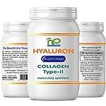 Capsules Biocell Collagen® ou Collagen Express (avec collagène II, acide hyaluronique, vitamine C et manganèse) 1 000 mg de collagène / jour pour la peau, les cheveux et les articulations, par NP-Vital (60 Biocell Collagen® capsules) #1