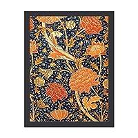 INOV ウィリアム・モリスCray花 アールヌーボー パターン30x40cm インテリア絵画 壁掛け 額入り 抽象的 アートパネル 部屋飾り プレゼント モダン アートフレーム 玄関 リビング 接客室 ルーム