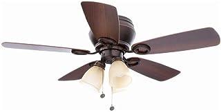 Hampton Bay Whitlock 44 in. LED Mediterranean Bronze Ceiling Fan