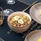 vancasso Tafelservice Steingut, Bella 48 teilig Geschirrset, handbemaltes Kombiservice Set, Marokko Stil, handbemalt für 12 Personen - 5