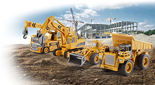 RC Auto kaufen Baufahrzeug Bild 4: Revell Control 23495 RC Baufahrzeug Kipplaster, 40MHz, Akku ferngesteuertes Auto, gelb-orange, 10 cm*