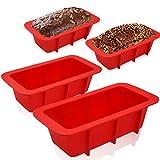 Walfos Mini Moldes de Silicona para Hornear Pan, Mini Moldes de Pan Rectangular, Moldes no pegajosos...