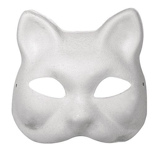 RAYHER 7156000 kartonnen masker, kat, 18 x 17 cm met elastiek