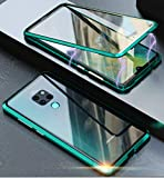 Huawei Mate 20 Pro Magnetic Case,Transparent Tempered Glass
