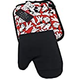 Best Brands Mickey Mouse - Mickey Gloves Pattern 2-Piece Kitchen Set, Oven Mitt and Pot Holder - by Disney