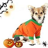 Ropa de Calabaza para Mascotas,Disfraz De Mascota De Halloween Disfraz de Calabaza para Perro Ropa para Mascotas de Halloween para Fiesta de Halloween
