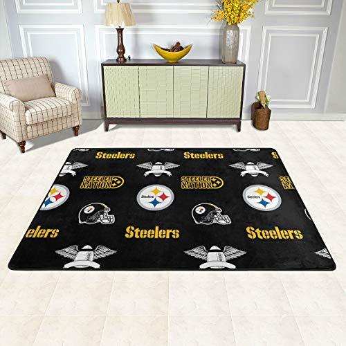 "Cramnrgt Pittsburgh-Steelers Football Team Fans Area Rug Non-Slip Play Mat Bedroom Living Room Floor Pad Carpet 36""x24"""