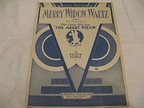 MERRY WIDOW WALTZ FRANZ LEHAR 1932 SHEET MUSIC SHEET MUSIC 349