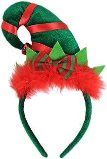 BESTOYARD Sombrero de Elfo Diadema Gorro de Navidad Gorro Diadema para Navidad Disfraz Accesorio