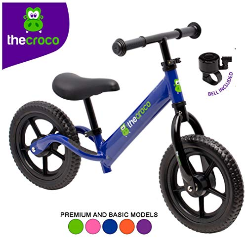 Great Deal! TheCroco Lightweight Balance Bike Premium for Toddlers and Kids (Blue)