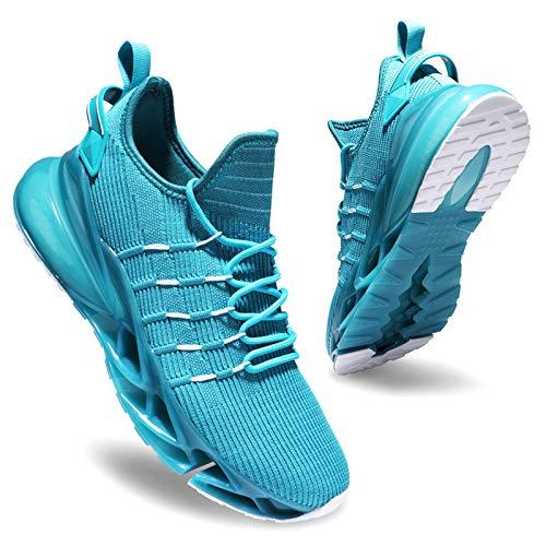 Deevike Zapatillas Mujer Zapatos Mujer Calzado Deportivo de Exterior para Casual Correr Caminar Gimnasio Sneakers Verde Blanco-38