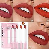 Sticker Zigarette Lippenstift Set Packung Matte Lipstick 4 Farben Langlebiges,einfach zu verwendendes Lippenreinigungsöl Ideal für Valentinstag,Geburtstage und andere Feste geeignet für Geschenke (B)