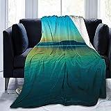 Nazi Mie Manta Sea Horizon Sky Dawn Manta de Microfibra Ultra Suave de Gran tamaño Manta de sofá de Microfibra
