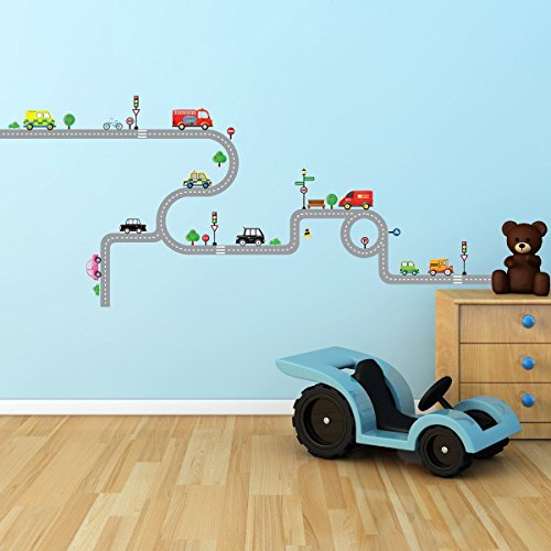 Decowall DW 1204 Transports Stickers Removable