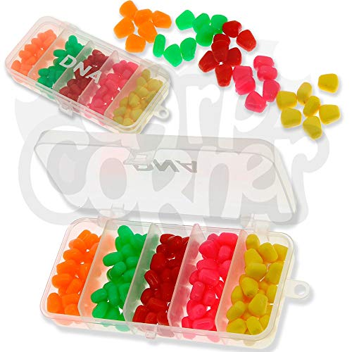 DNA 125pc Carp Match Fishing Fake Bait Set Pop Up Artificial Sweet Corn Tackle Box